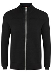 Hugo Sottoman Black Wool Blend Cardigan