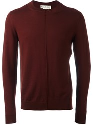 Marni Crew Neck Jumper Red