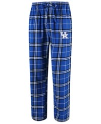 Concepts Sport Men's Kentucky Wildcats Huddle Flannel Pants Royalblue