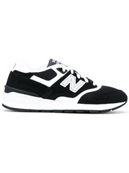 New Balance Ml597 Sneakers Men Suede Polyester Rubber 5.5 Black
