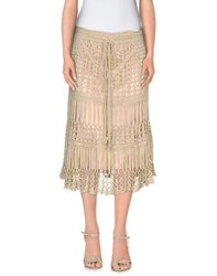 Care Of You Skirts 3 4 Length Skirts Women Beige