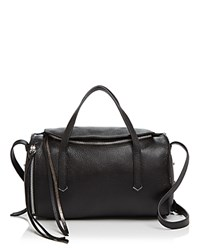 Botkier Bowery Leather Duffel Satchel 100 Exclusive Black Silver