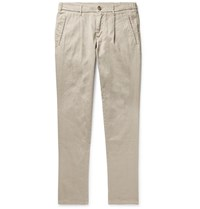 Altea Bowery Tapered Pleated Linen Blend Trousers Neutrals