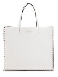 Valentino Garavani Leather Tote Bag White