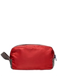 Dolce And Gabbana Nylon Dauphine Leather Toiletry Bag