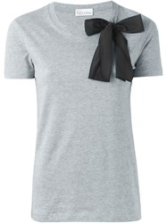 Red Valentino Bow Detail T Shirt Grey