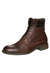 Marc O'polo Laceup Boots Dark Cognac Brown