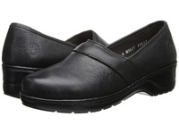 Lobo Solo Mary Black Leather Women's Slip On Shoes
