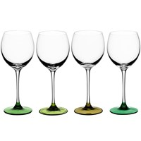 Lsa International Coro Assorted Wine Glasses Set Of 4 Leaf