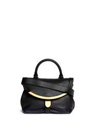 See By Chloe 'Lizzie' Small Leather Satchel Black