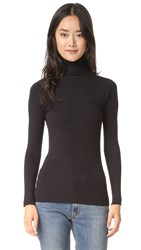 525 America Ribbed Turtleneck Sweater Black
