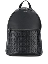 Serapian Textured Backpack Black