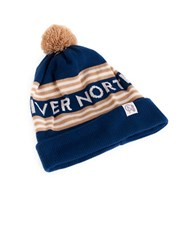 Tuck Shop Co. River North Striped Beanie Blue