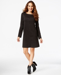 Studio M Topstitched Ponte Flare Dress