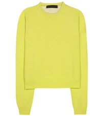 Haider Ackermann Wool And Cashmere Blend Sweater Yellow