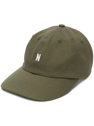 Norse Projects Twill Baseball Cap Green