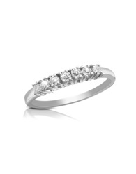 Forzieri 0.24 Ct Diamond 18K Gold Band Ring