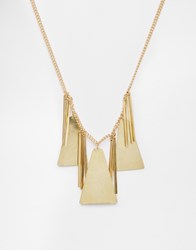 Made Statement Triangle Section Necklace Gold
