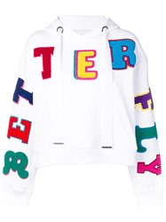 Mira Mikati Better Fly Embroidered Hoodie White