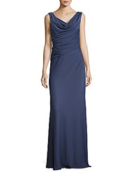 Vera Wang Cinched Cowlneck Gown Ink