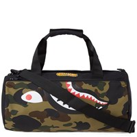 A Bathing Ape 1St Camo Shark Sports Bag Green