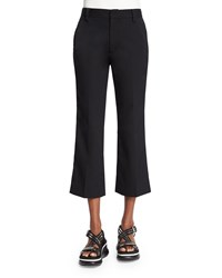 Marc Jacobs Flat Front Flare Leg Cropped Pants Black