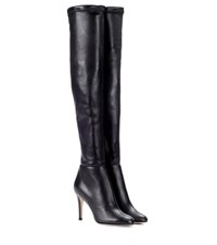 Jimmy Choo Toni Leather Over The Knee Boots Black