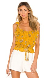 Astr The Label Donna Top In Yellow. Marigold Multi Floral