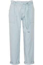 Current Elliott Newsboy Chambray Straight Leg Pants