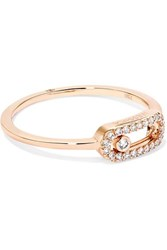 Messika Move Uno 18 Karat Rose Gold Diamond Ring
