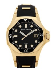 Givenchy Five Shark Gold Plated Watch Black