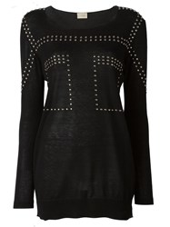 Laneus Studded Sweatshirt Black