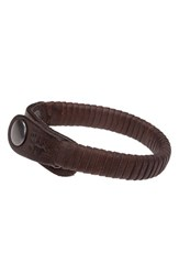 Men's Will Leather Goods 'Peddler' Bracelet Brown