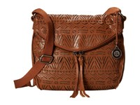 The Sak Silverlake Crossbody Tobacco Tribal Perf Cross Body Handbags Brown