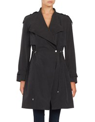 French Connection Drawstring Trenchcoat Black
