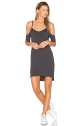 Lna Off The Shoulder Tee Dress Charcoal