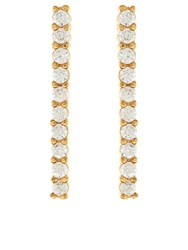 Accessorize Delicate Pave Bar Earrings