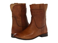 Frye Paige Short Riding Camel Smooth Vintage Leather Women's Pull On Boots Mahogany