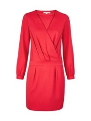 Paul And Joe Malice Tuxedo Long Sleeve Dress Red