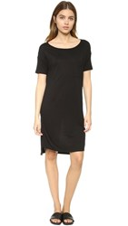 Alexander Wang T By Classic Boat Neck Dress With Pocket Black