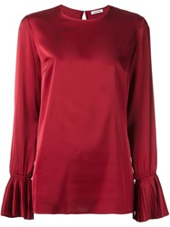 P.A.R.O.S.H. Pleated Cuff Blouse Red