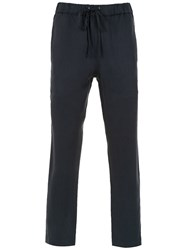 Egrey Straight Trousers Blue