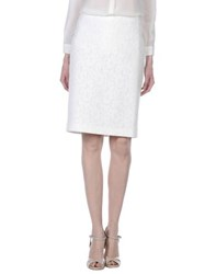 Tara Jarmon Skirts Knee Length Skirts Women White