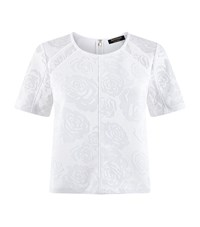 Juicy Couture Burnout Floral Mesh Top Female White