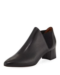 Aquatalia By Marvin K Poppy Leather Ankle Boot Black