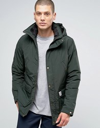 Franklin And Marshall Padded Parka With Hood Military Green