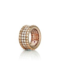 Roberto Coin 18K Rose Gold Diamond And Stud Ring