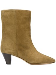 Isabel Marant Etoile Dyna Ankle Boots Green