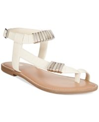 Bar Iii Verna Embelished Flat Sandals Women's Shoes White