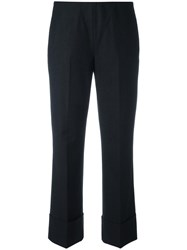 Fay Cropped Tailored Trousers Grey